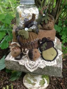 Wooden Spool Designs - Plump Wooly Acorns image