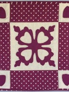 HCQK - Purple and Cream Table Topper image