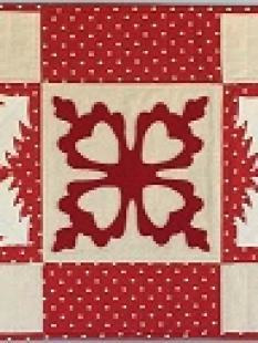 HCQK - Red and Cream Table Runner image